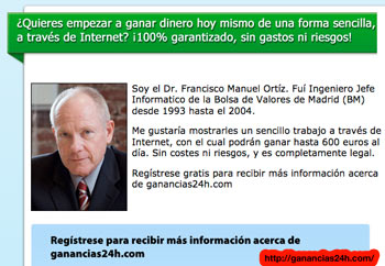 Online Wealth Generation Scam Spain