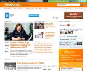 Mashable WordPress Site