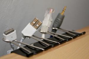 binder clip desk tidy