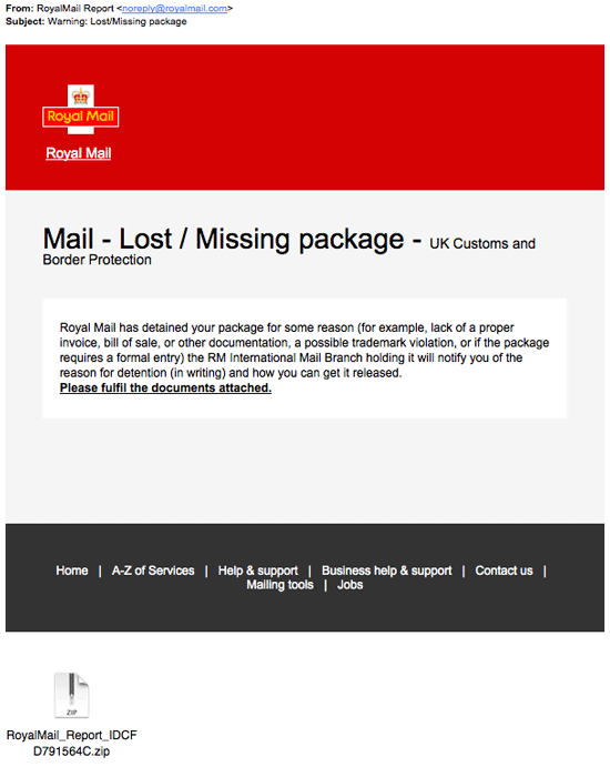 Watch out for this Royal Mail scam
