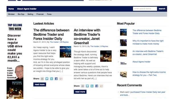 Agora Insider Review