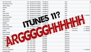 The curse of iTunes 11...