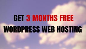 3 months free web hosting